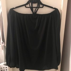 Tops - Off the Shoulder Chiffon Blouse